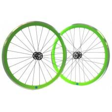 Ambrosio Scattofisso fixie/singlespeed wielset groen