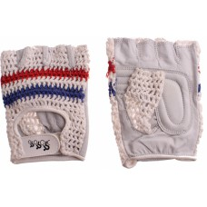 Retro race/mtb handschoenen (rood-wit-blauw)